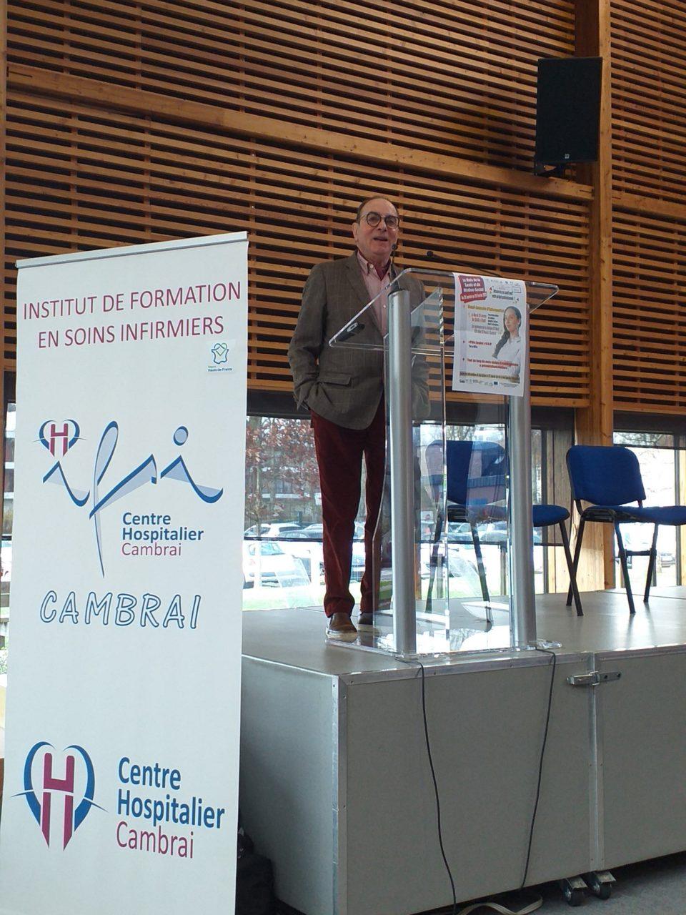 Docteur Cliche au Forum pour l'emploi des soignants